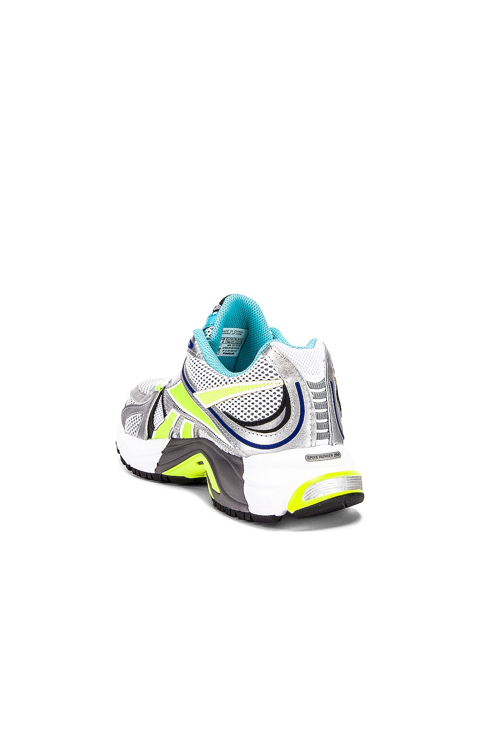 Image 3 of VETEMENTS Spike Runner 200 Sneakers in White & Lime