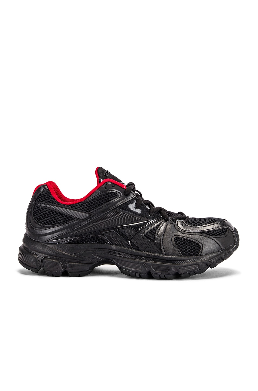 Image 1 of VETEMENTS Spike Runner 200 Sneakers in Black & Red