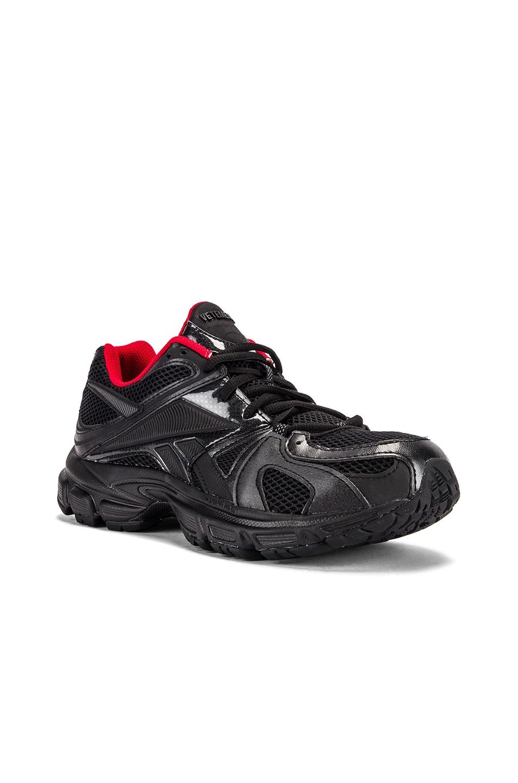 Image 2 of VETEMENTS Spike Runner 200 Sneakers in Black & Red