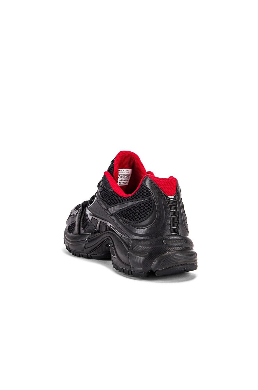 Image 3 of VETEMENTS Spike Runner 200 Sneakers in Black & Red
