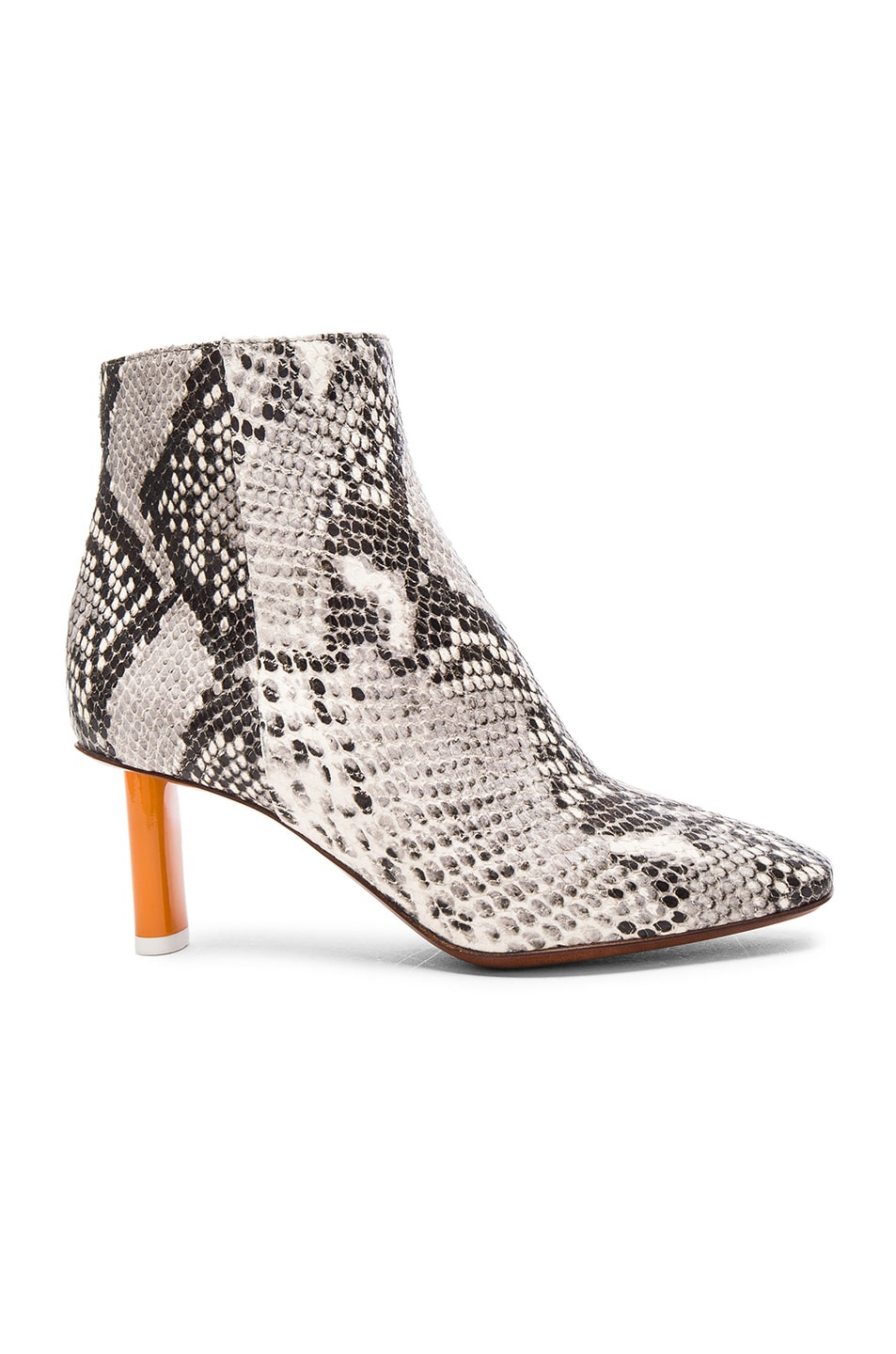 Image 1 of VETEMENTS Python Embossed Ankle Boots in Python & Orange