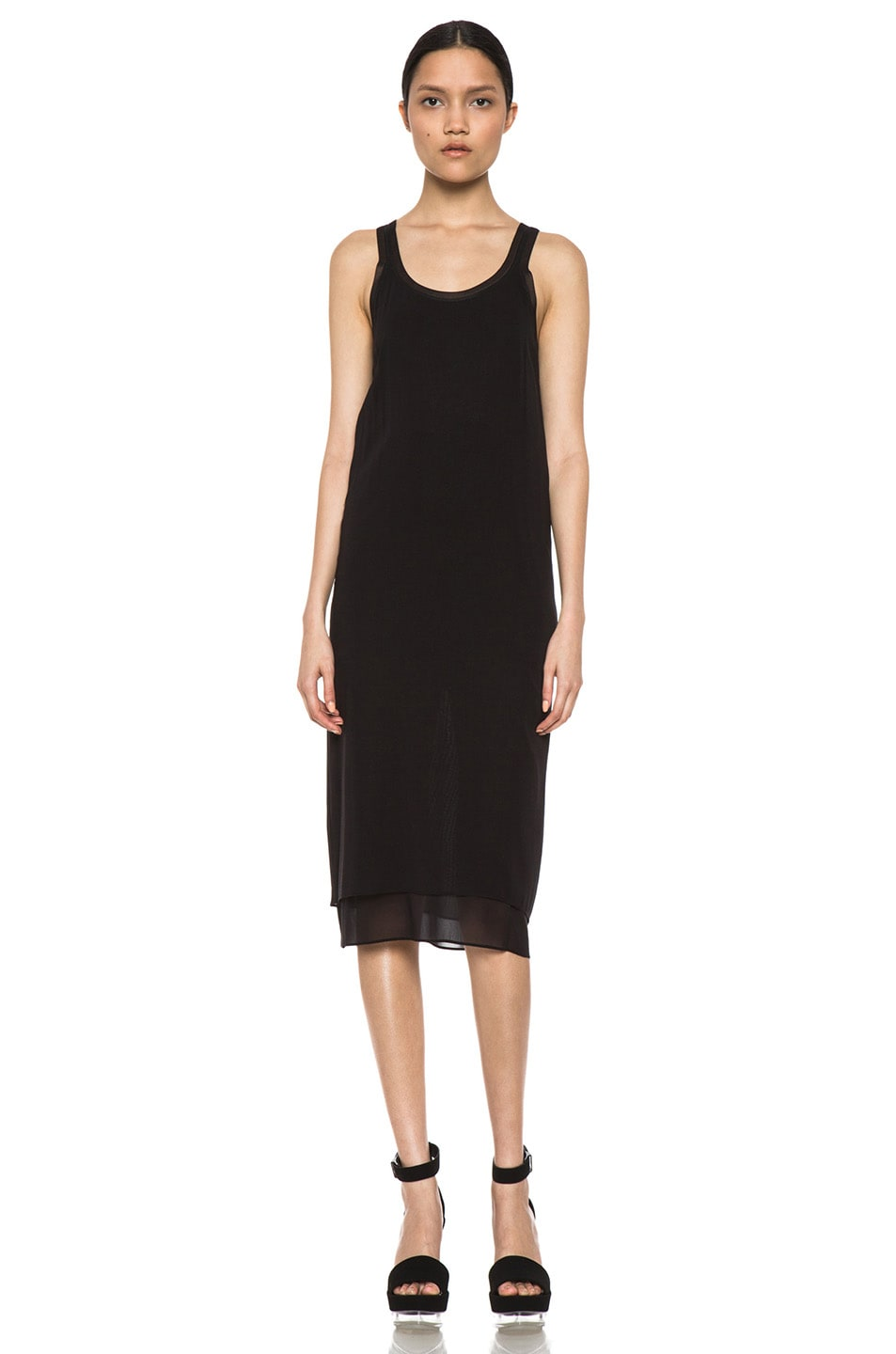 Image 1 of Vince Double-Layer Dress in Black