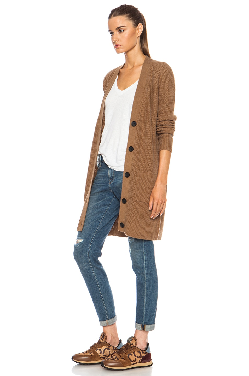 Vince Oversized Cardigan in Camel | FWRD