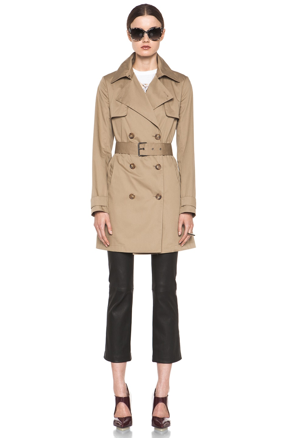 Image 1 of Vince Trench Coat in Khaki