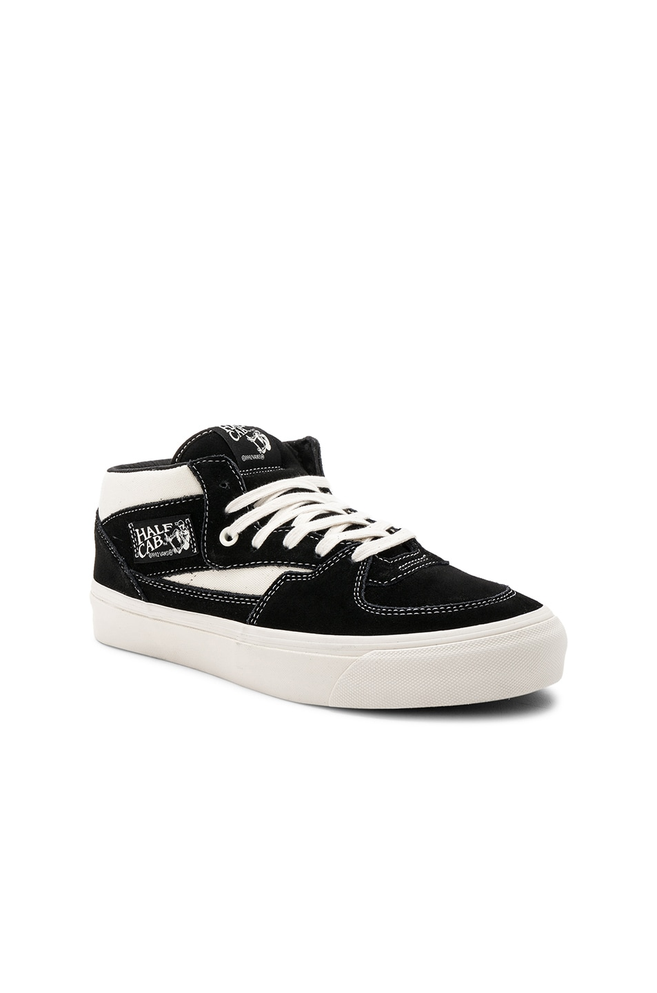 0004029ad4 Image 1 of Vans Vault OG Half Cab LX in Black   Marshmallow