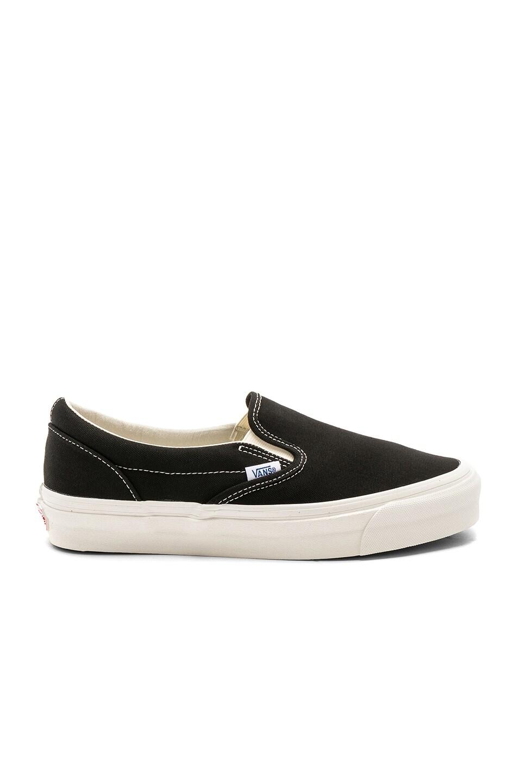 Image 1 of Vans Vault OG Classic Slip-Ons LX in Black