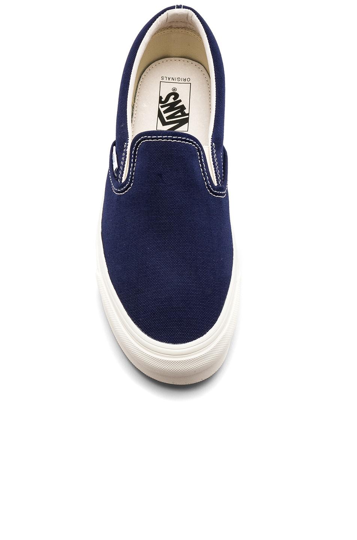 OG Classic LX Logo Print Canvas Slip On Sneakers