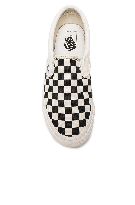 Image 4 of Vans Vault OG Classic Canvas Slip On LX in Black & White Checkerboard