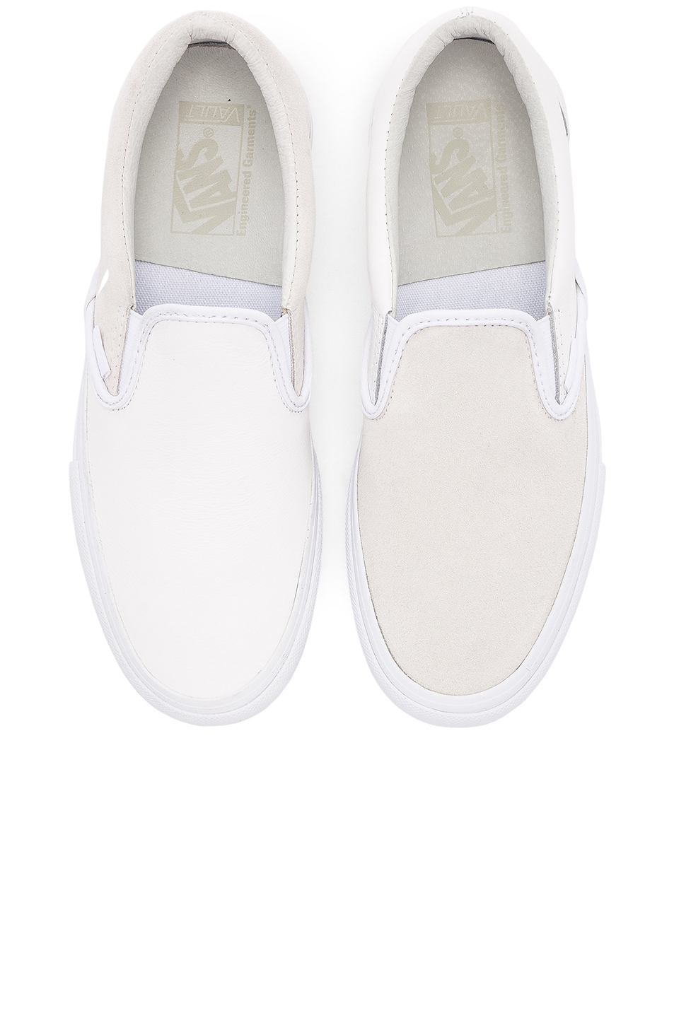 645ee4c8d422 Image 1 of Vans Vault x Engineered Garments Classic Slip On Leather in White