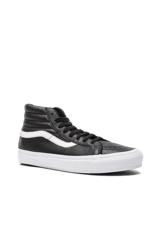 Image 1 of Vans Vault OG Leather SK8-HI LX in Black