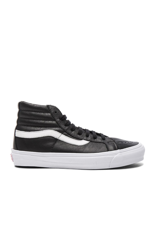 Image 2 of Vans Vault OG Leather SK8-HI LX in Black