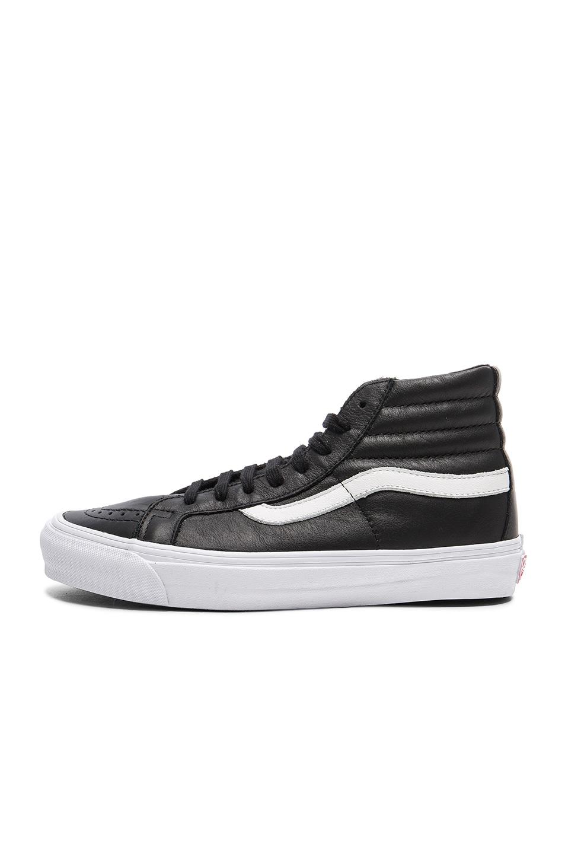 Image 5 of Vans Vault OG Leather SK8-HI LX in Black