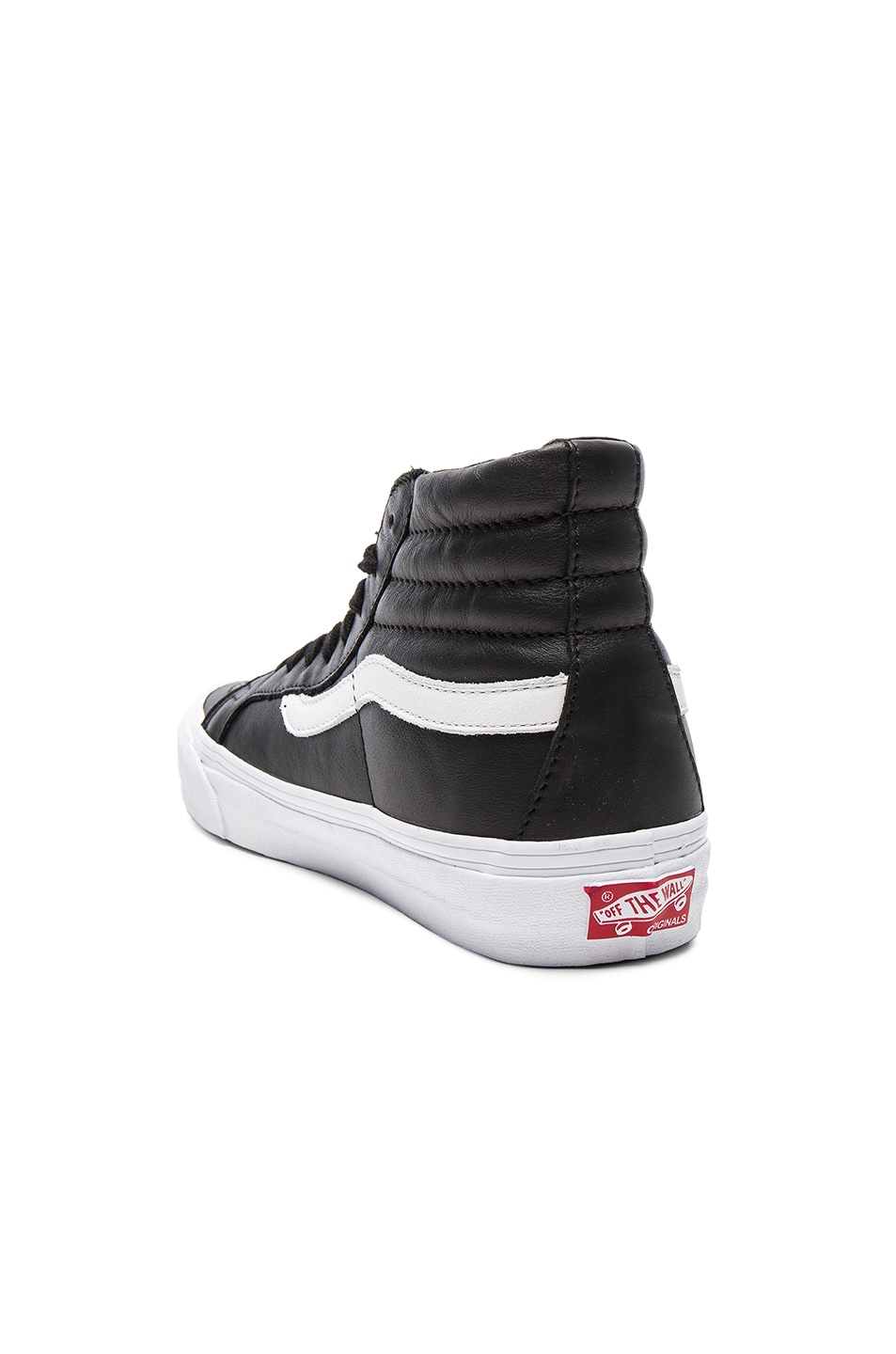 Image 3 of Vans Vault OG Leather SK8-HI LX in Black