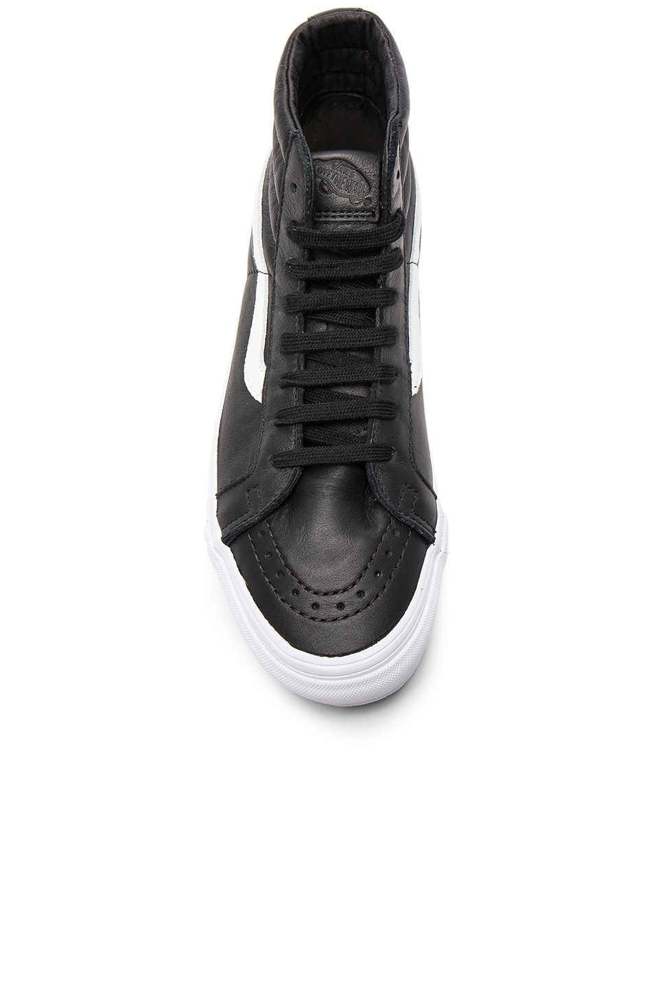 Image 4 of Vans Vault OG Leather SK8-HI LX in Black