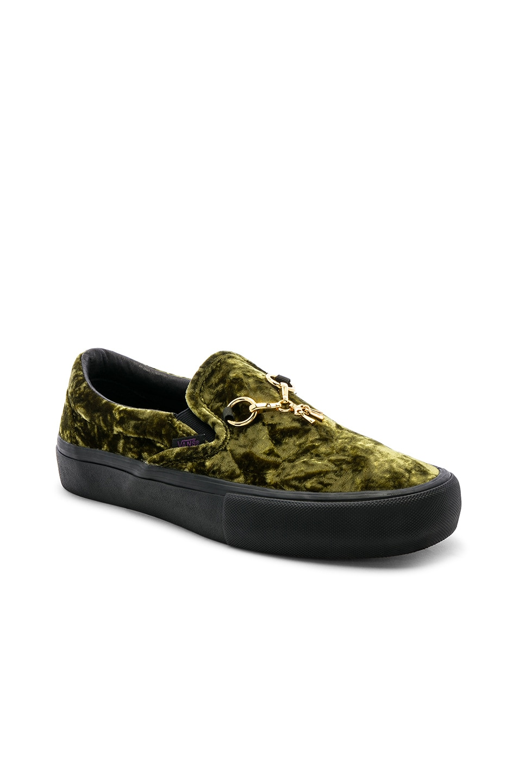 ef26e4848bbc Image 1 of Vans Vault x NEEDLES Velvet Classic Slip-on in Green   Black