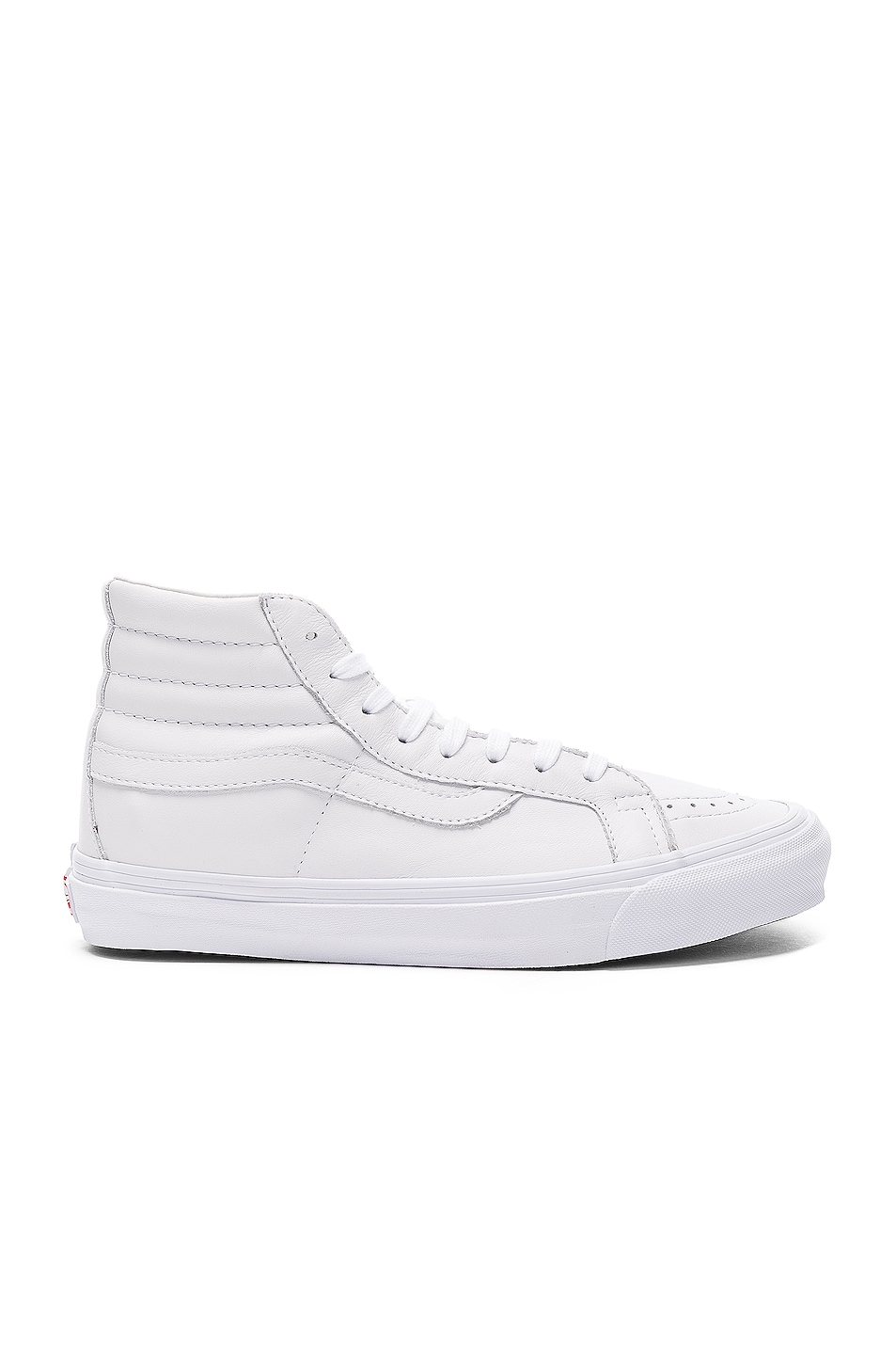 Image 1 of Vans Vault Leather OG SK8-HI LX in White
