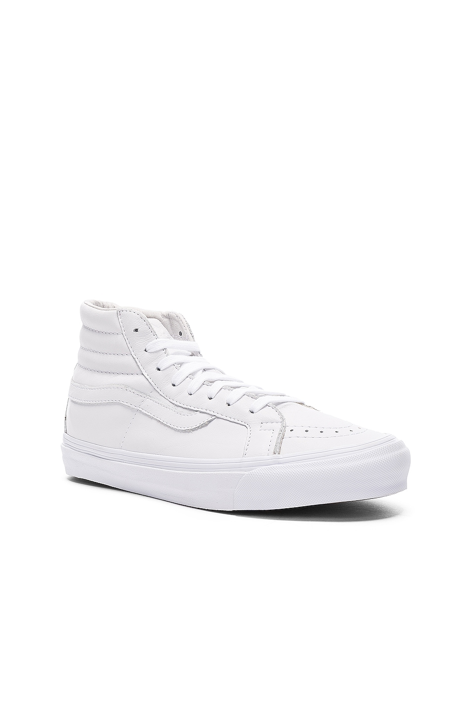 Image 2 of Vans Vault Leather OG SK8-HI LX in White