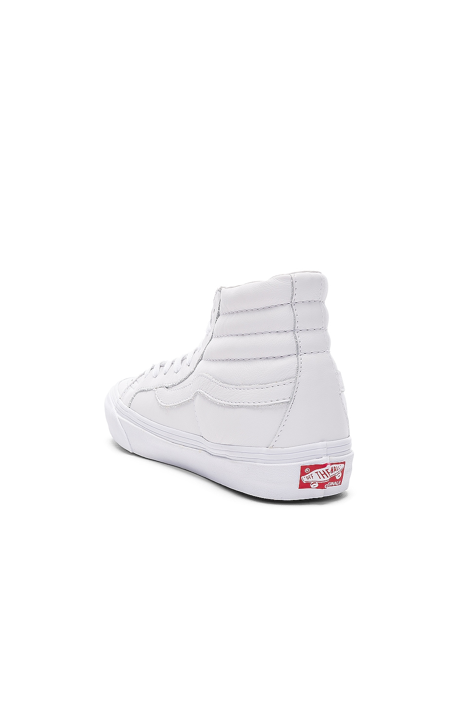 Image 3 of Vans Vault Leather OG SK8-HI LX in White