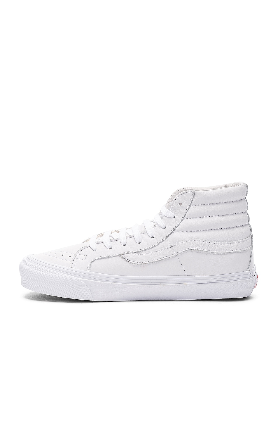 Image 5 of Vans Vault Leather OG SK8-HI LX in White
