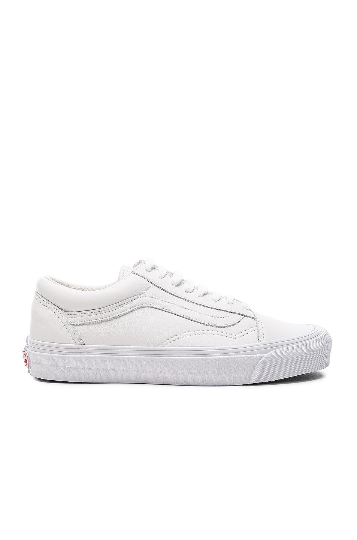 Image 1 of Vans Vault Leather OG Old Skool LX in White