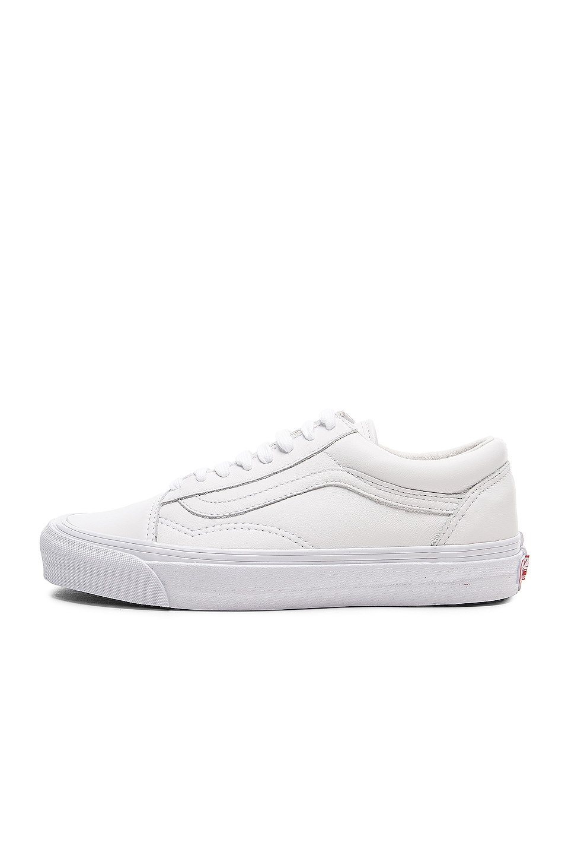 Image 5 of Vans Vault Leather OG Old Skool LX in White