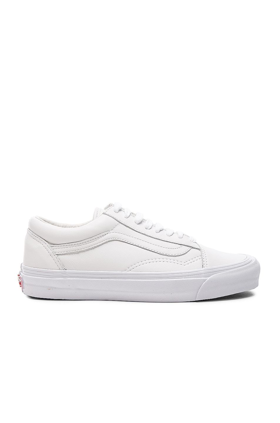 Image 1 of Vans Vault Leather OG Old Skool LX in White