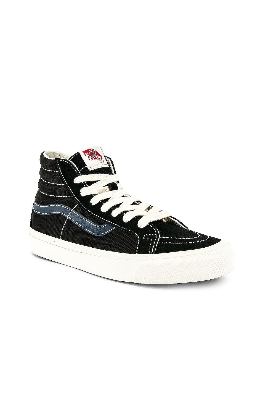 Image 2 of Vans Vault OG Sk8-Hi LX in Black & Dress Blue