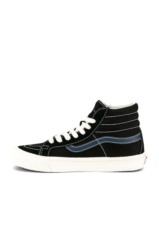 Image 5 of Vans Vault OG Sk8-Hi LX in Black & Dress Blue