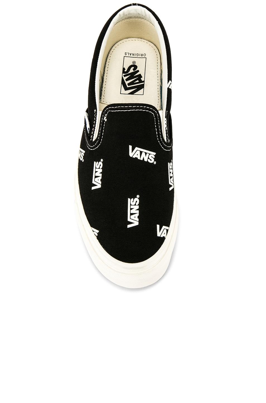 Image 4 of Vans Vault OG Classic Slip-On LX in Black & Marshmallow