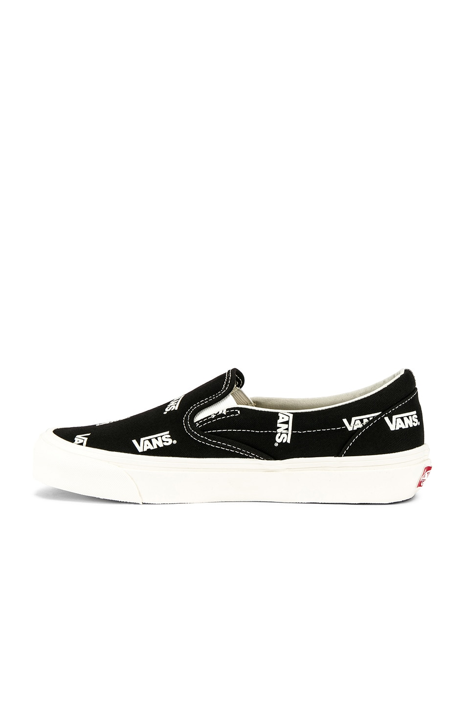 13cd2e7e3f Image 5 of Vans Vault OG Classic Slip-On LX in Black   Marshmallow