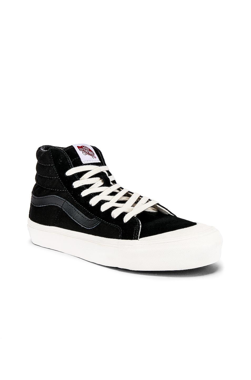 Image 2 of Vans Vault OG Style 138 LX in Black & Checkerboard