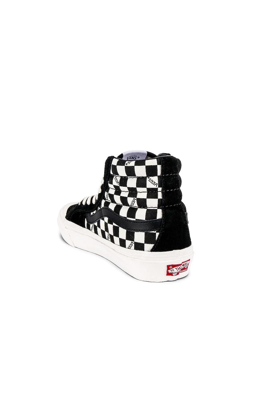 Image 3 of Vans Vault OG Style 138 LX in Black & Checkerboard