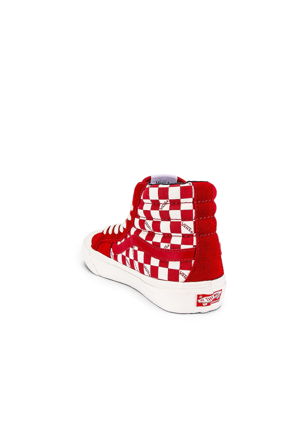 Image 3 of Vans Vault OG Style 138 LX in Racing Red & Checkerboard