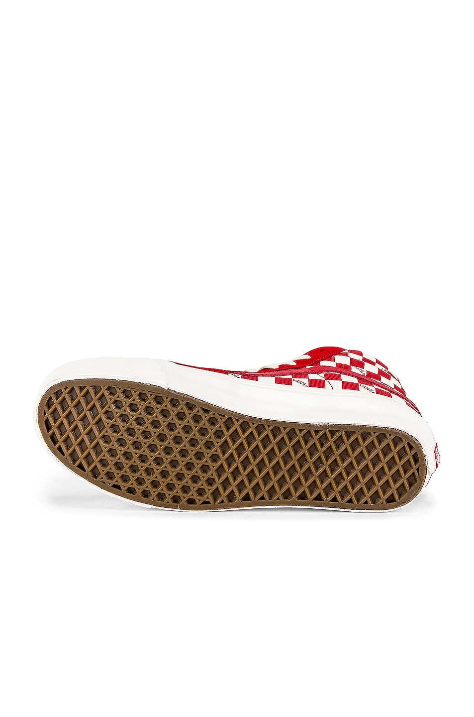 Image 6 of Vans Vault OG Style 138 LX in Racing Red & Checkerboard