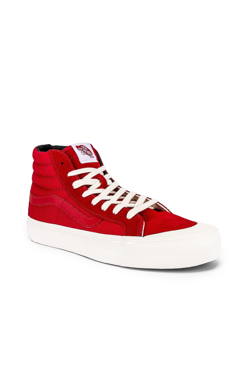 Image 2 of Vans Vault OG Style 138 LX in Racing Red & Checkerboard