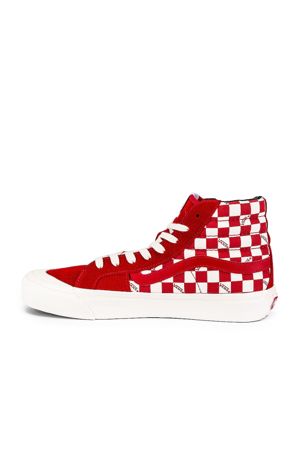 Image 5 of Vans Vault OG Style 138 LX in Racing Red & Checkerboard