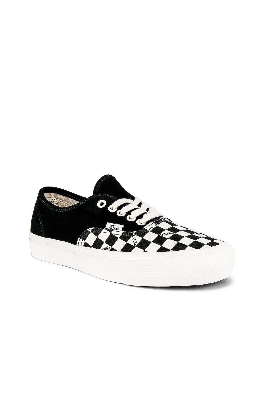 Image 1 of Vans Vault OG Authentic LX in Black & Checkerboard