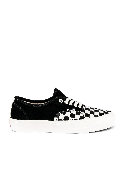 Image 2 of Vans Vault OG Authentic LX in Black & Checkerboard