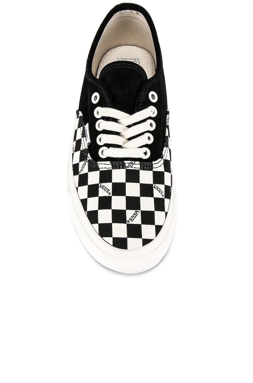 Image 4 of Vans Vault OG Authentic LX in Black & Checkerboard