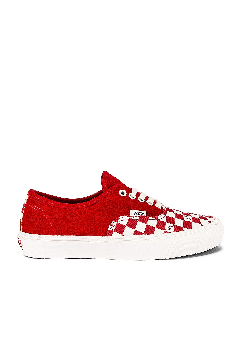 Image 2 of Vans Vault OG Authentic LX in Racing Red & Checkerboard
