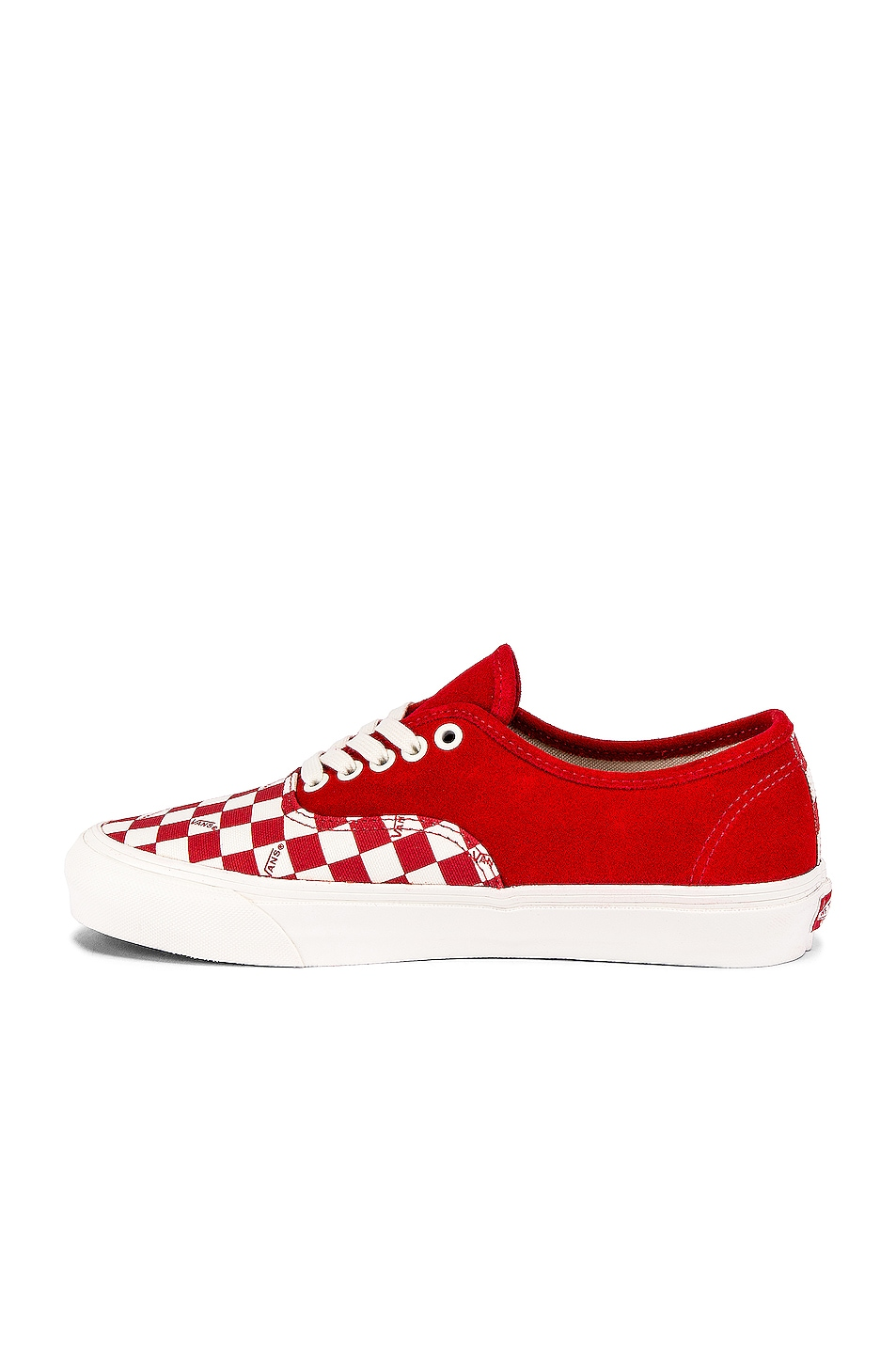 Image 5 of Vans Vault OG Authentic LX in Racing Red & Checkerboard