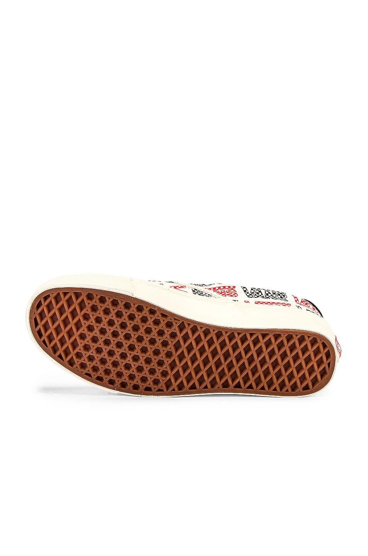 Image 6 of Vans Vault OG Slip-On 59 LX in Racing Red & Logo Checkerboard