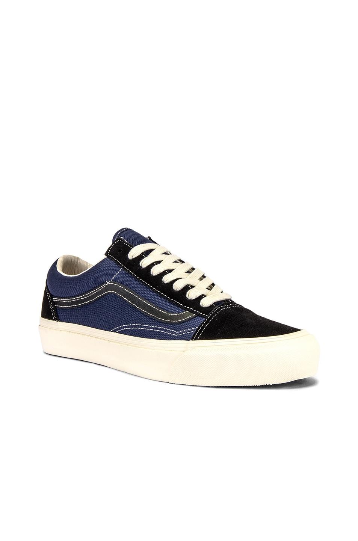 Image 2 of Vans Vault OG Old Skool LX in Black & Insignia Blue