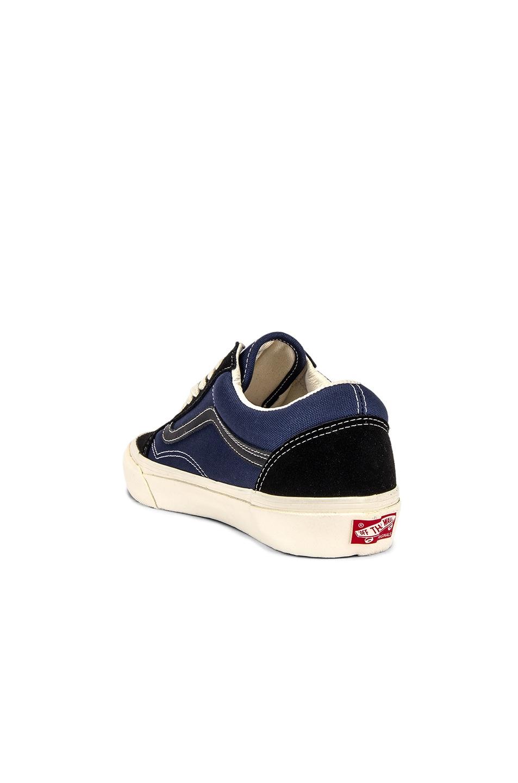 Image 3 of Vans Vault OG Old Skool LX in Black & Insignia Blue