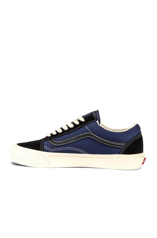 Image 5 of Vans Vault OG Old Skool LX in Black & Insignia Blue