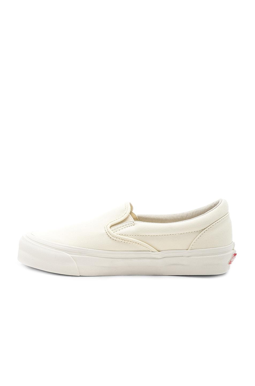 Image 5 of Vans Vault OG Classic Slip-On LX in Classic White