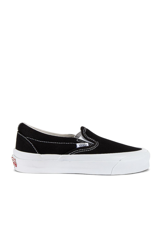 Image 1 of Vans Vault OG Classic Slip-On LX in Black & True White