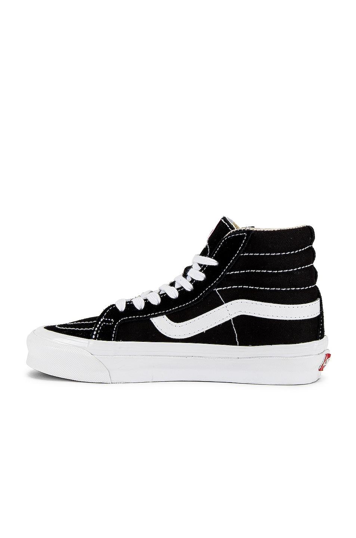 Image 5 of Vans Vault OG Sk8-Hi LX in Black & True White