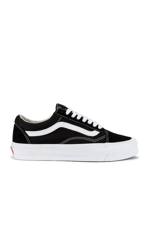 Image 1 of Vans Vault OG Old Skool LX in Black & True White