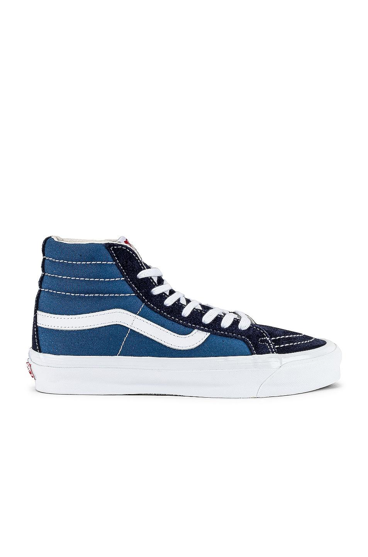 Image 1 of Vans Vault OG Sk8-Hi LX Sneaker in Navy & Stv Navy